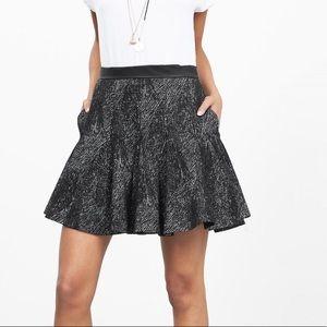 Banana Republic Jacquard Fit Flare Skirt